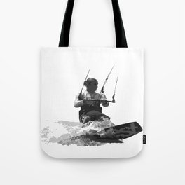 Catch A Wave Kitesurfing Vector Tote Bag