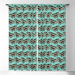 Butterfly Illustrated Pattern Print Blackout Curtain