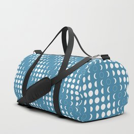 Blue Moon Phases Pattern Duffle Bag