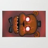 freddy krueger Area & Throw Rugs featuring Ghostware Freddy by j0hn1cus