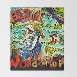Alice in Wonderbra  Throw Blanket
