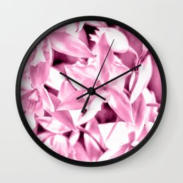 Cascading orchids - Pink Wall Clock