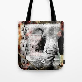 Of Elephants and Men Tote Bag