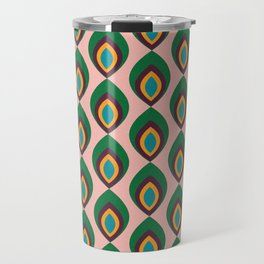 Peacock feather pink #homedecor #midcenturydecor Travel Mug