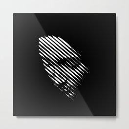 Face Lines Metal Print