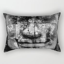 Cambodia. Angor Wat. Faces of Lokesvara Rectangular Pillow