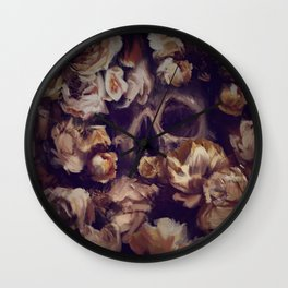 Flowers Grave -  Expresive Digital Oil Painting. Wall Clock