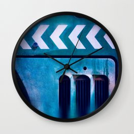 Road Roller Chevron 04 - Industrial Abstract (everyday 20.01.2017) Wall Clock