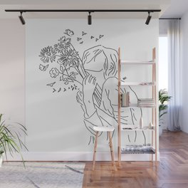 allow yourself to bloom again Wall Mural
