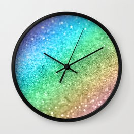 Rainbow Princess Glitter #1 (Photography) #shiny #decor #art #society6 Wall Clock