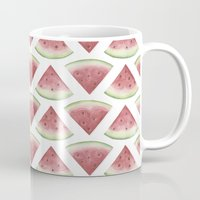 watermelon Mugs featuring Watermelon by Jill Byers