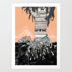 Fox Tree Art Print
