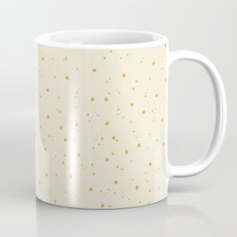 Neutral Linen and Gold Speckled Coffee Mug