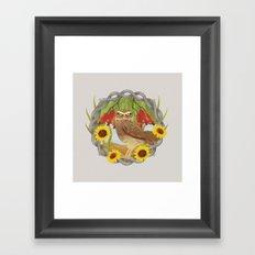 cashew and owl Framed Art Print