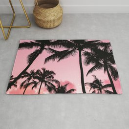 Tropical Trees Silhouette Rug