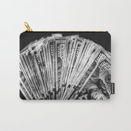 Money - Black And White Carry-All Pouch