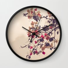 Dream of Flowers Wall Clock