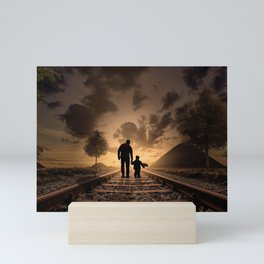 Father and son Mini Art Print
