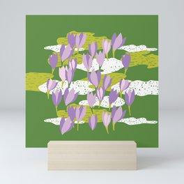 First crocus Mini Art Print