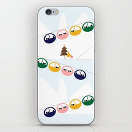Ski cables iPhone Skin