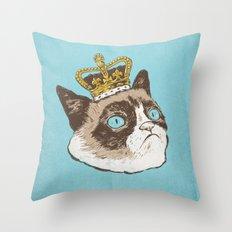 Grumpy King Throw Pillow