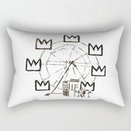 Ferris Wheel, Banksy Pays Tribute To Jean-Michel Basquiat, Artwork, Tshirts, Posters, Bags, Prints, Rectangular Pillow