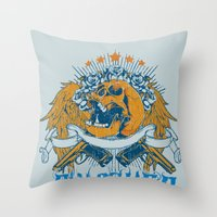 punisher Throw Pillows featuring Punisher by Tshirt-Factory