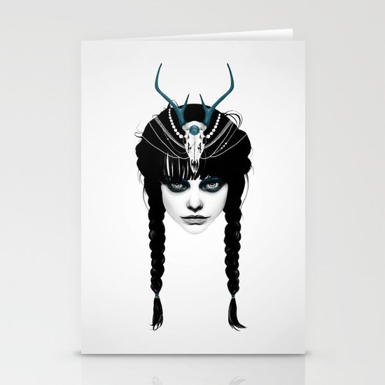 Wakeful Warrior - In Blue Stationery Cards