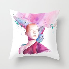 little MONK Throw Pillow