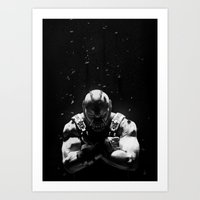 bane Art Prints featuring Bane by Sam Rowe Illustration