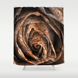 Barking Rose Shower Curtain