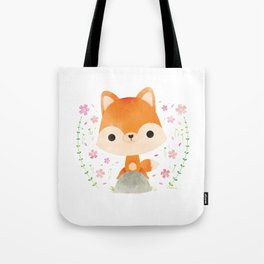 Japanese red fox Tote Bag