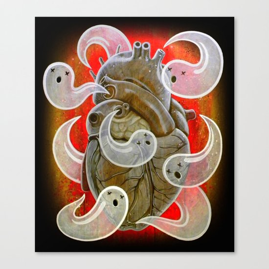 """""""A HEART FULL OF GHOSTS"""" Canvas Print"""