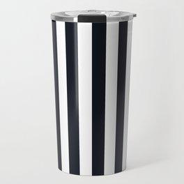 Vertical Stripes Black & White Travel Mug