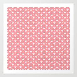 Princess pink with Tiaras. Art Print