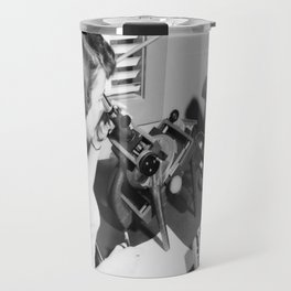 X-4 with Female Computer Travel Mug
