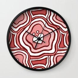 'I Love You Umlaut' Valentine's Pattern - Pretty in Pink Wall Clock