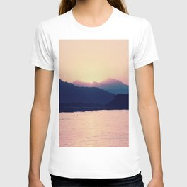 Romantic Pastel Pink Sunset #1 #art #society6 T-shirt