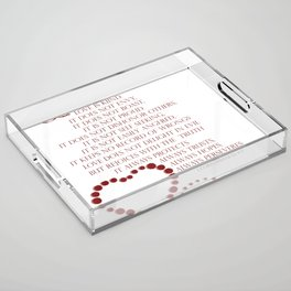 Love is patient love is kind 1 Corinthians 13: 4-7 Acrylic Tray