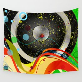 Jazz Musical Background Wall Tapestry