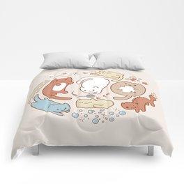 Seven cute cats. Comforters