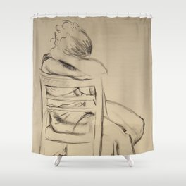 In Silent Beauty Shower Curtain