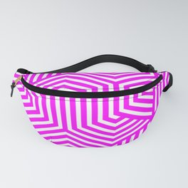 Fuchsia - pink - Minimal Vector Seamless Pattern Fanny Pack