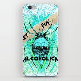 ALCOHOLICA SPIDER SKULL WEB 80's thrasher iPhone Skin