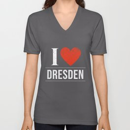 I Love Dresden Unisex V-Neck