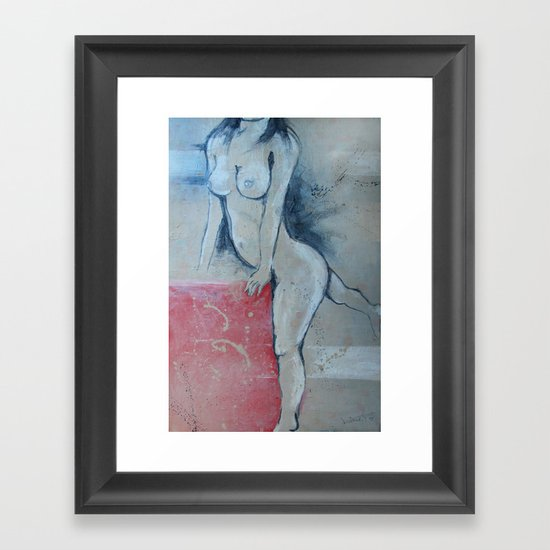 zara b Framed Art Print
