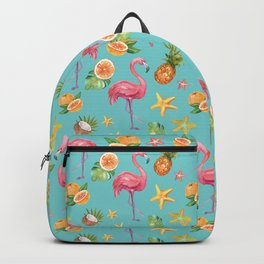 Tropical flamingo pattern Backpack