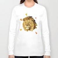 lion Long Sleeve T-shirts featuring lion by gazonula