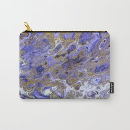 Purple Rain, pouring abstract acrylic Carry-All Pouch