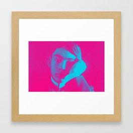Kahlil Gibran in pink Framed Art Print